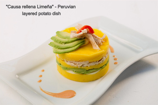 """Causa Rellena Limeña"" - Peruvian layered potato dish."