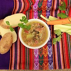 SOPA DE CEBADA (Organic Barley Soup)
