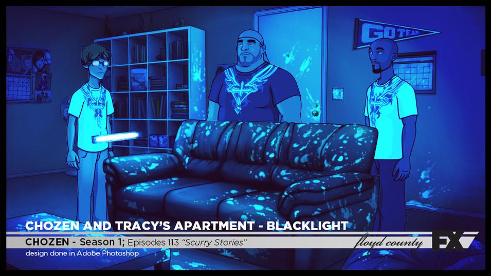 Chozen Apartment Blacklight