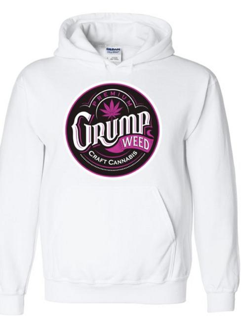 White/Pink Logo Hoodie