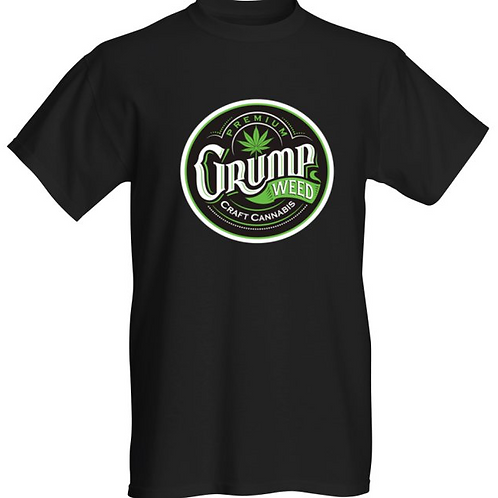 Mens Black/Green Logo T-shirt