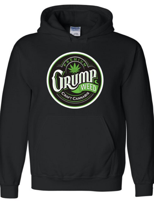 Mens Hoodie with Green Logo