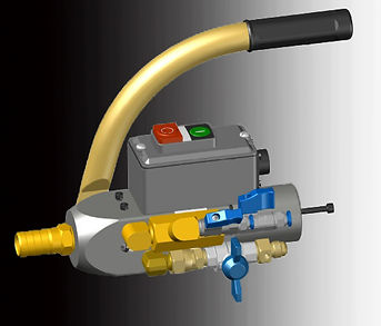 Cabezal inyector poliuretano