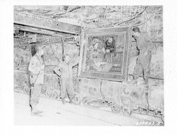 Looted salt mine 1945 Manet in the W