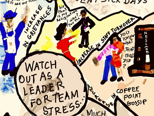 A leader needs to leave his team 'Stirred but not Shaken'