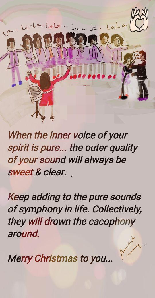 inner voice Merry christmas