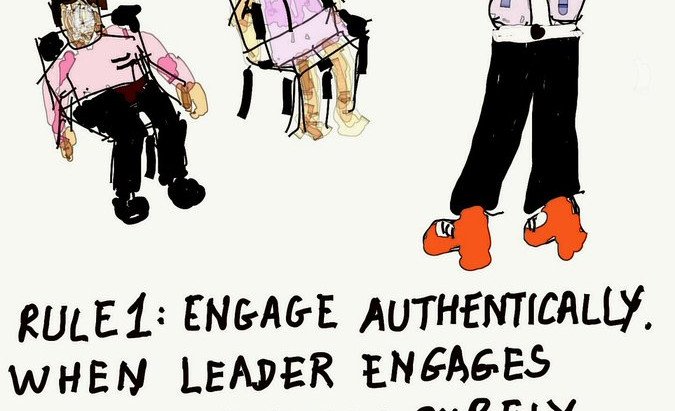 A leader's authenticity whilst Engaging with his team is very important. Unauthentic engagement