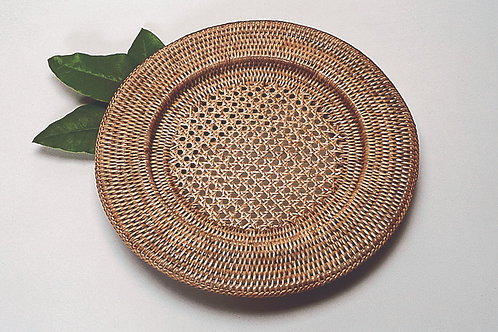 Round Open Weave Charger 12.5""