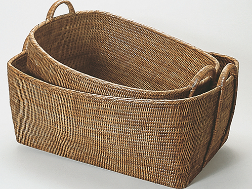 "Large Hoop Handle Basket 31""x25""x14""H"