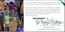 Sponsored by Crown Fine Wine&Spirits