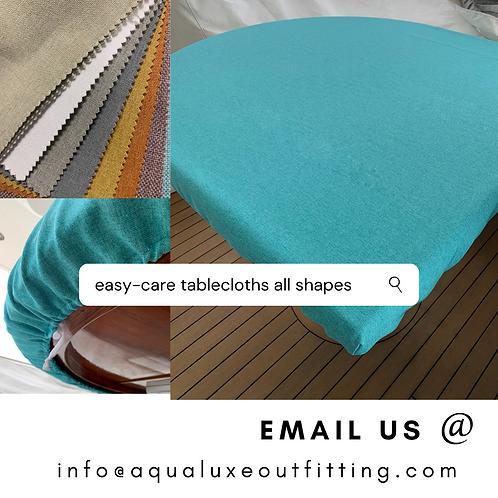 "Bali Color Flax (Grey)..Rectangular Tablecloth 136""x48"""