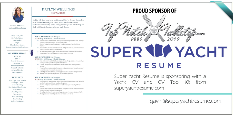 Sponsored by Super Yacht Resume