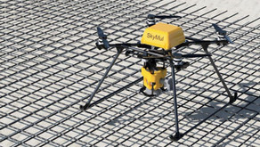 SkyMul's drone speeds up construction with automated rebar tying