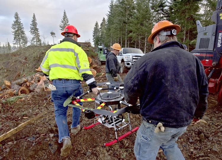 loggers, commercial drone, drones, drone, uas, uav, suas, drone technology, technology, the daily astorian