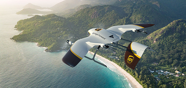UPS, delivery drone, drones, drone, uas, uav, suas, commercial drone, drone technology, wingcopter