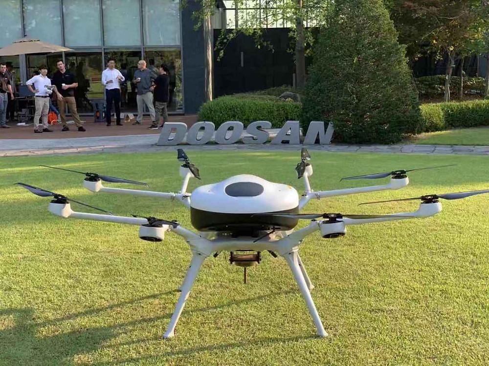 doosan, fuel cell, fuel cell drone, drones, drone, uas, uav, suas, ocean crossing, drone tech, drone technology, commercial drone