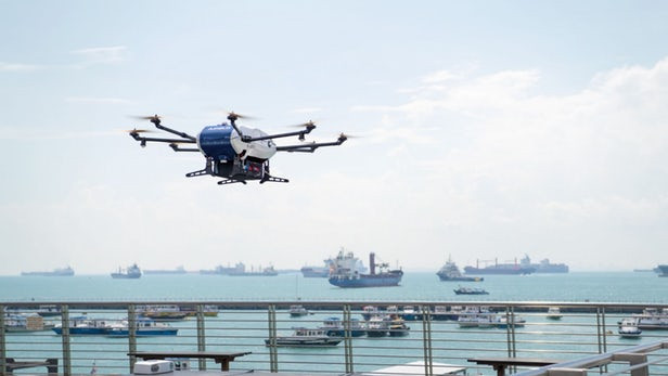 airbus, airbus drones, airbus shore-to-ship, shore-to-ship, drones, drone delivery, commercial drone, drone, uas, uav, suas, new atlas