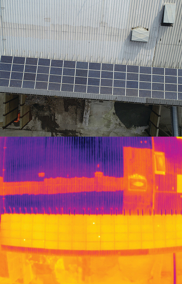 drone inspection, infrared testing inc, infrared technology, infrared drone, drones, drone, uas, uav, uav, power magazine, solar panels, wind turbines