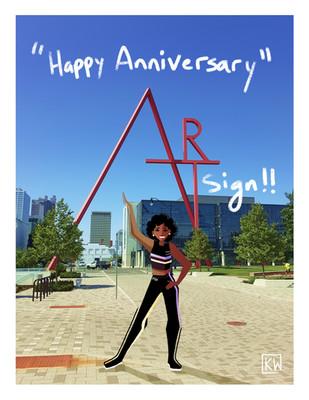 Art Sign Anniversary