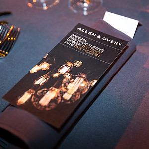 Allen & Overy's Annual Restructuring Dinner 2016