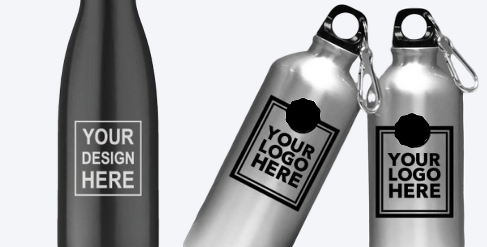 Printed Water Bottles & Sipper bottles for companies