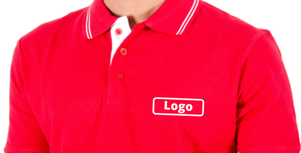 Premium Polo Neck T-shirt with Logo on chest