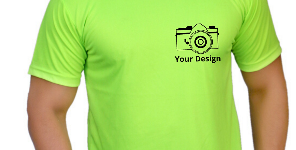 Polyester Drifit Round Neck T-shirt with Logo on chest