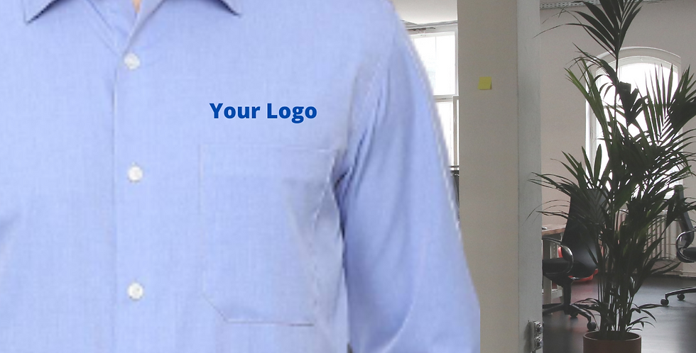 Formal Shirt with Logo Embroidery