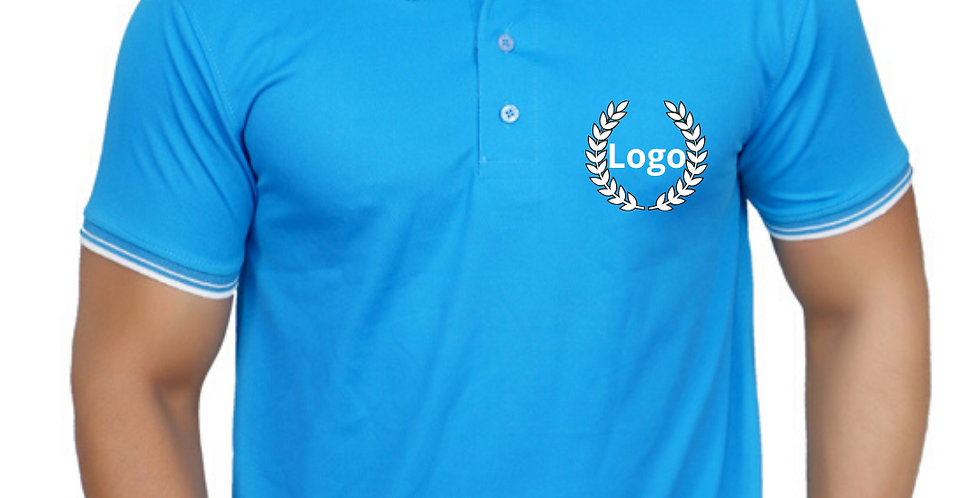Premium Polyester Drifit Polo Neck T-shirt with Logo on chest