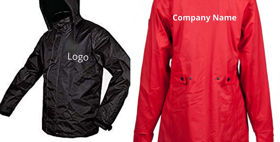 Printed Customized Raincoats for Companies