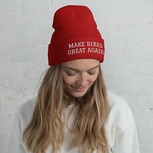 Cuffed Beanie - MAKE BIKES GREAT AGAIN