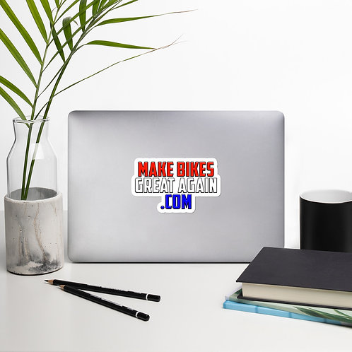 Bubble-free stickers - MAKE BIKES GREAT AGAIN .COM