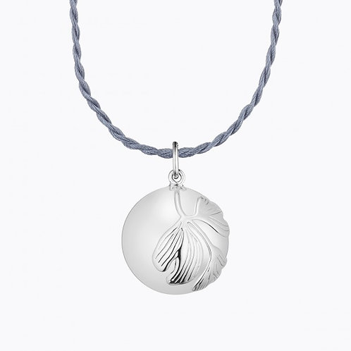 GINKGO MATERNITY NECKLACE SILVER PLATED
