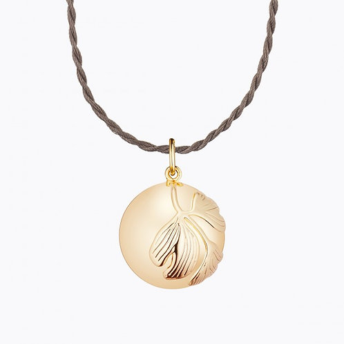 GINKGO MATERNITY NECKLACE YELLOW GOLD PLATED