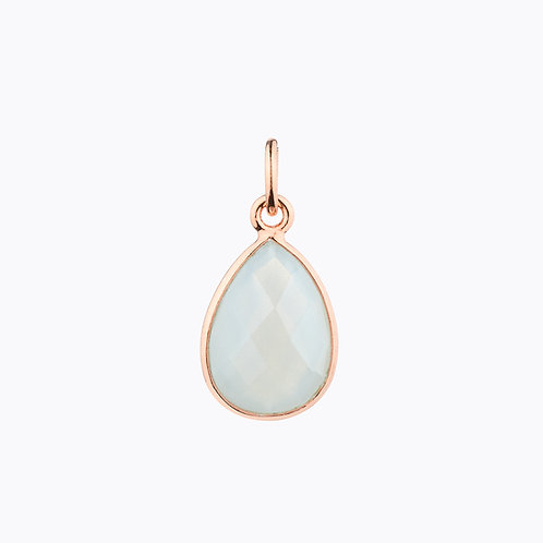 GEMSTONE DROP PENDANTS - MOONSTONE ROSE GOLD