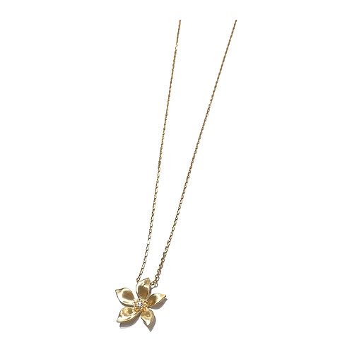 Bauhinia Gold Plated Chain Necklace