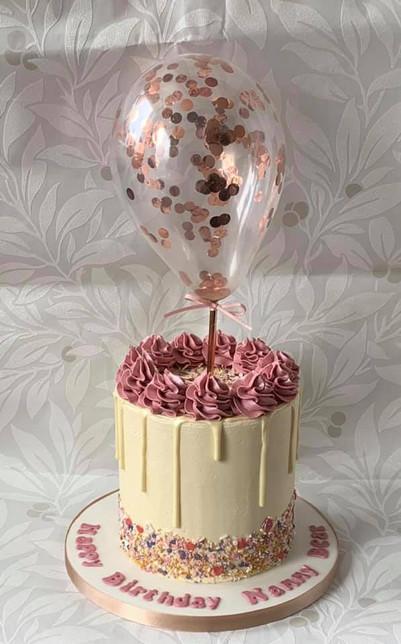 Rose Gold Balloon Drip