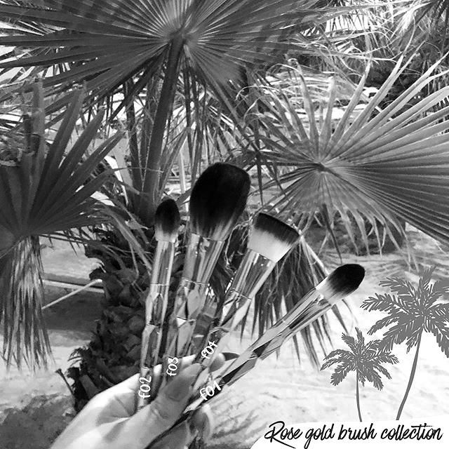 🌴Our rose gold brush collection is made