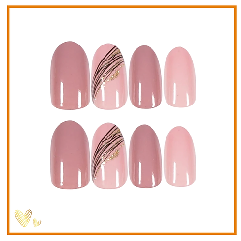 Short Nude 24 set Press On (Nail tabs included)
