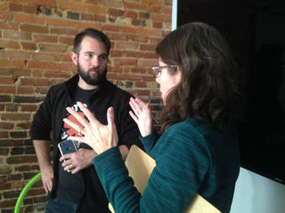 Ross Godwin (DP) with Patty Meyers (Producer/AD)