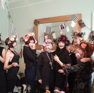 Flower crown hen party, Edinburgh
