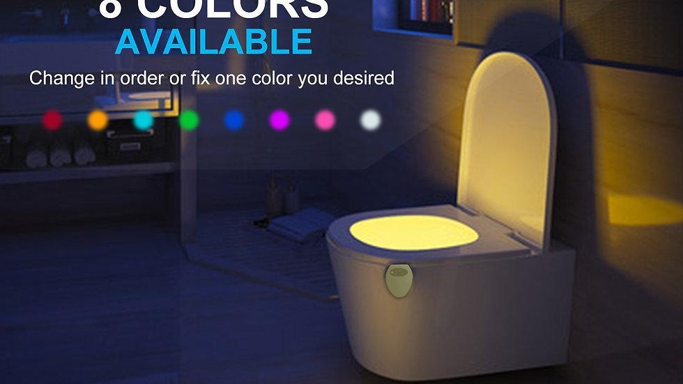 8 Color LED Motion Sensor Toilet Light