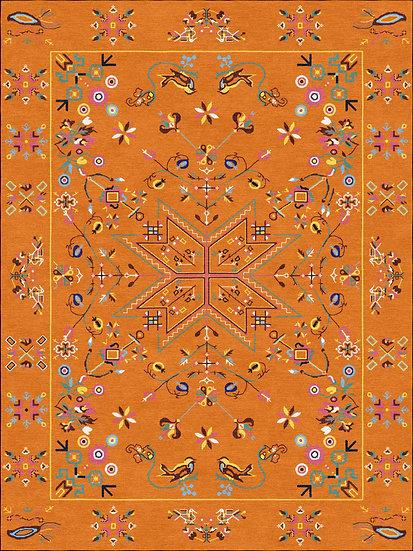 Anno 1927 handmade carpet from Muhu island Estonia