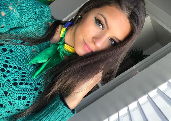 Maquiagem verde e amarela para torcer pelo Brasil