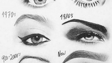 Evolução do design de sobrancelhas