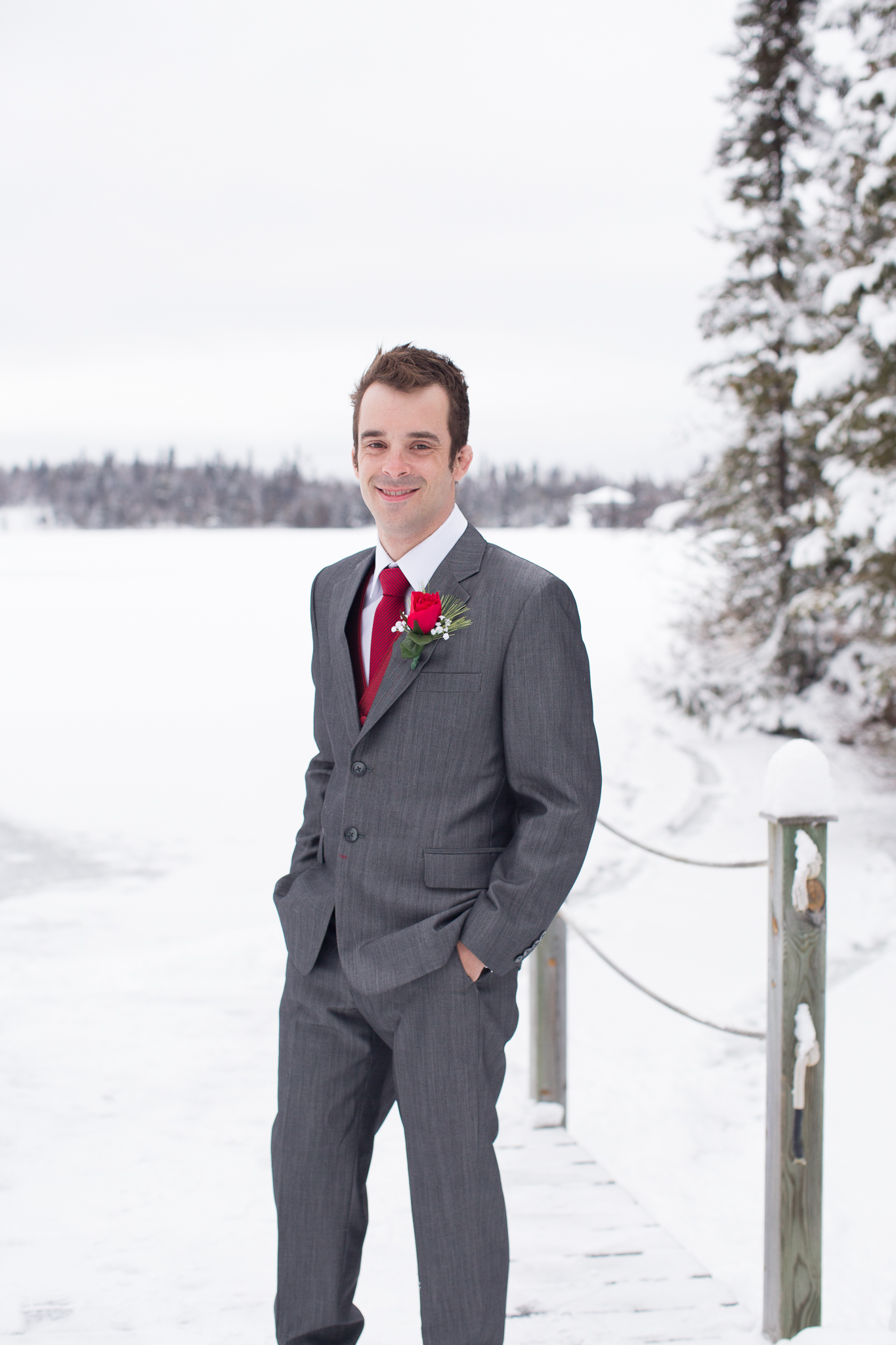 Winter Wedding Dryden Ontario
