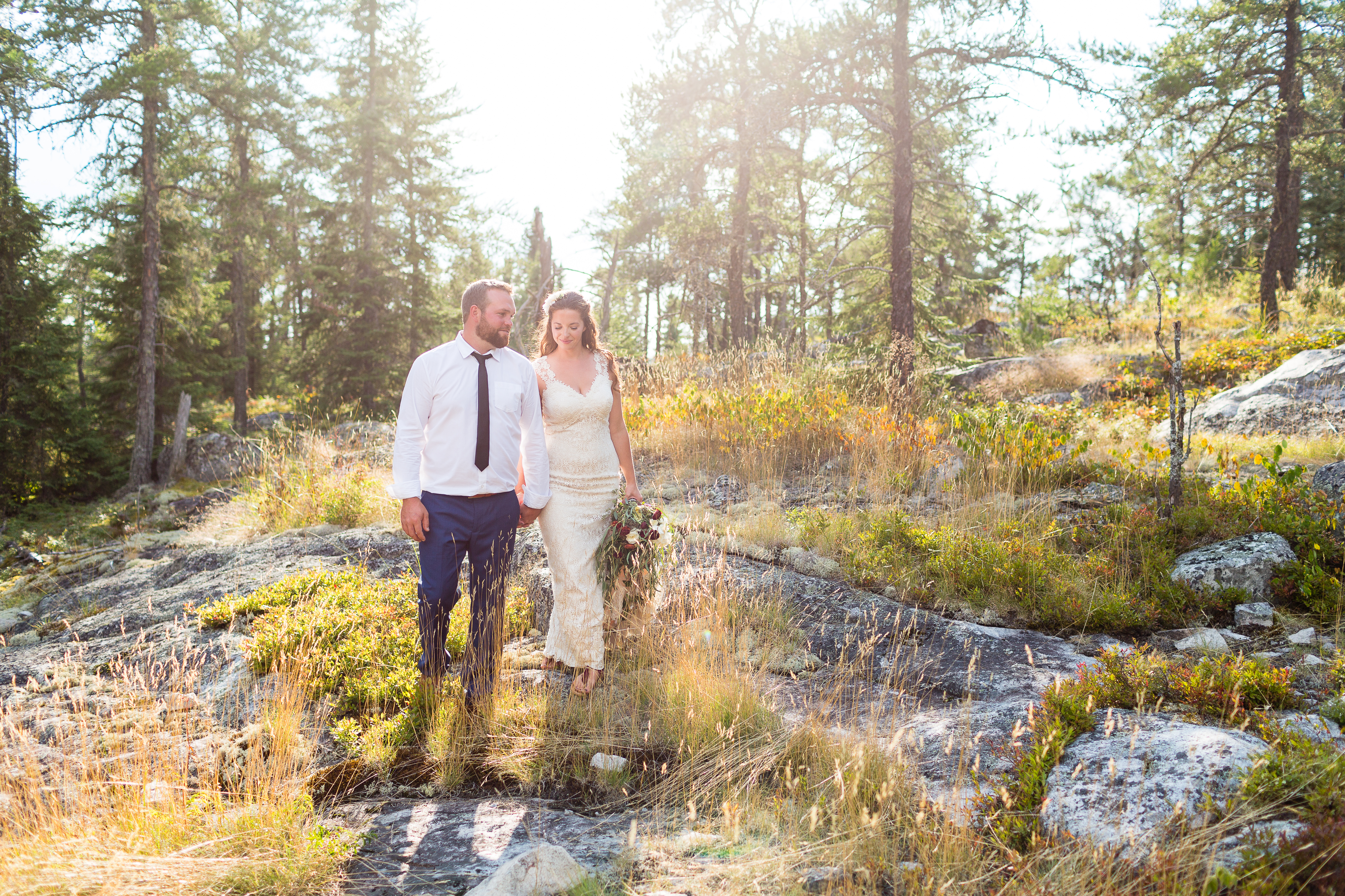 Fall wedding Dryden Ontario