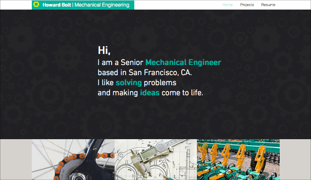 Design website templates – Mechanical Engineer