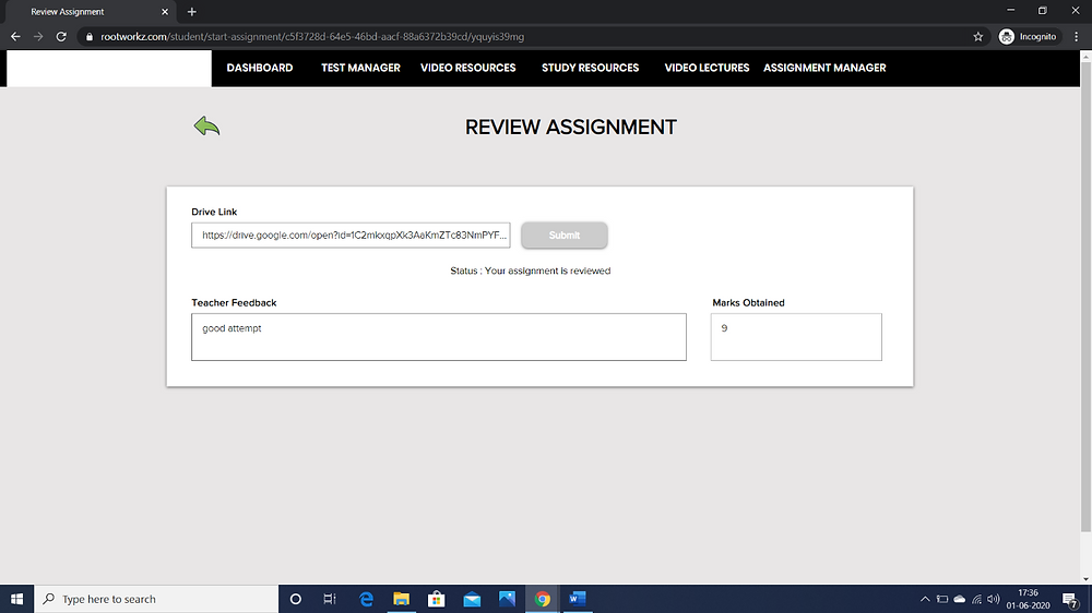 HOW CAN A STUDENT SUBMIT HIS ASSIGNMENTS AND VIEW THE FEEDBACK?