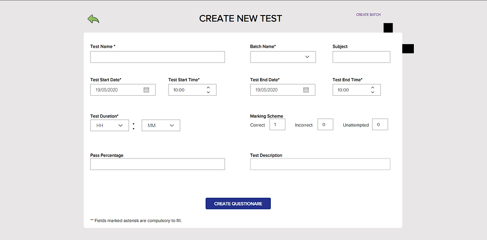 Simplifying the process of scheduling online tests